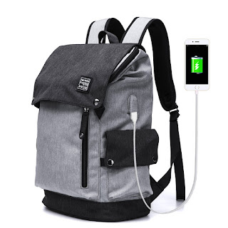 MR.YLLS Business Laptop Backpacks Anti thief Tear / water Resistant Travel Bag fits up to 15 Inch Macbook Computer USB Charging Backpack (gray all)