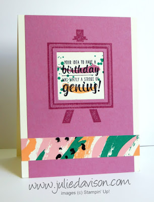 Stampin' Up! Playful Painter's Palette Birthday Card #stampinup New Catalog www.juliedavison.com