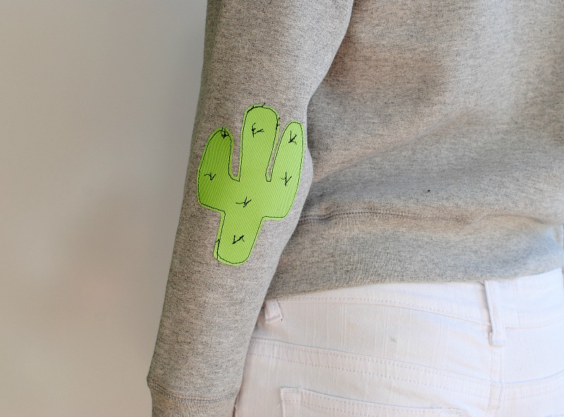 Trash To Couture: DIY Elbow Patches