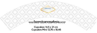 Wrappers para Cupcake para Imprimir Gratis de Fiesta de Las Vegas.
