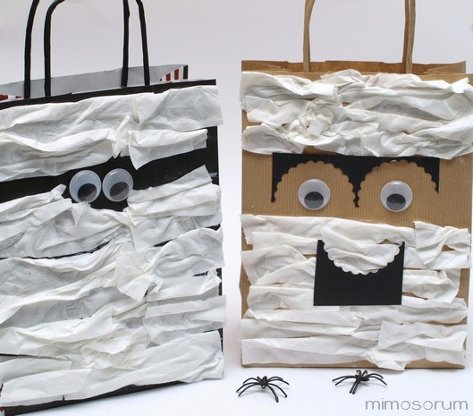 Bolsas de Papel para Halloween - Paper Bag Monster.