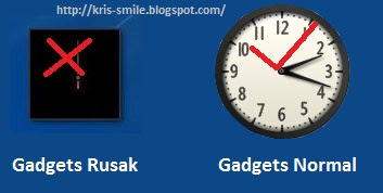 Gadget error-rusak Windows 7 & Vista