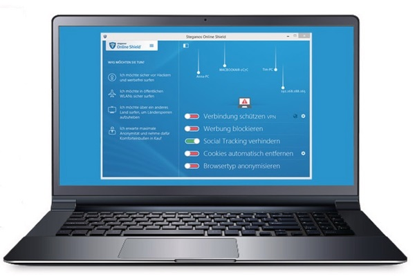 Mit der Software Online Shield VPN führt Steganos einige neue Funktionen zum Schutz der Privatsphäre ein