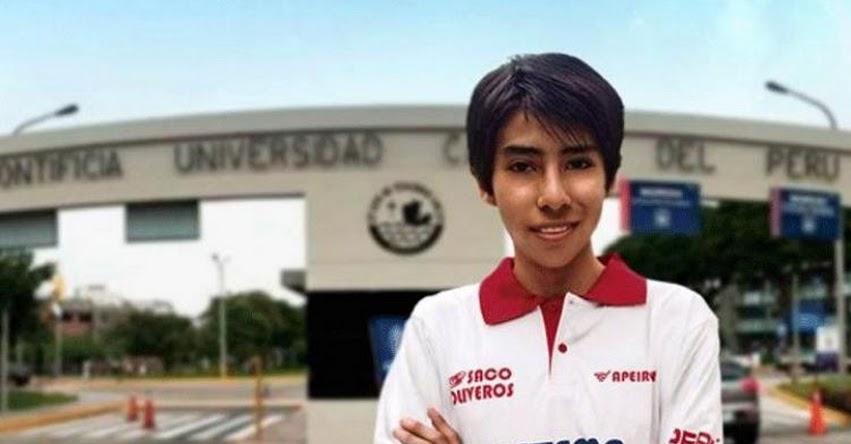 FRANK CAMPOS ALARCÓN: Estudiante de Andahuaylas ocupa primer puesto en examen de admisión a la PUCP y UNI