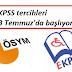 EKPSS tercihleri 13 Temmuz'da başlıyor