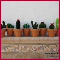 cactus variados amigurumis
