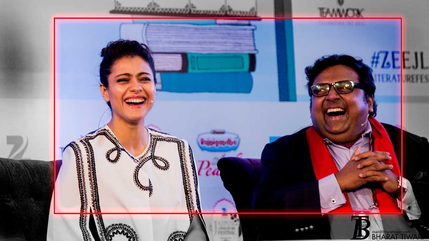 JLFMoments with Kajol and Ashwin Sanghi