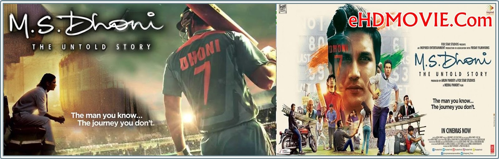M.S. Dhoni: The Untold Story 2016 Full Movie Hindi 720p - 480p ORG BRRip 500MB - 1.6GB ESubs Free Download