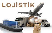 Uçakla, gemiyle, kamyonla, minibüsle ve insan gücüyle yapılan lojistiği anlatan bir görsel