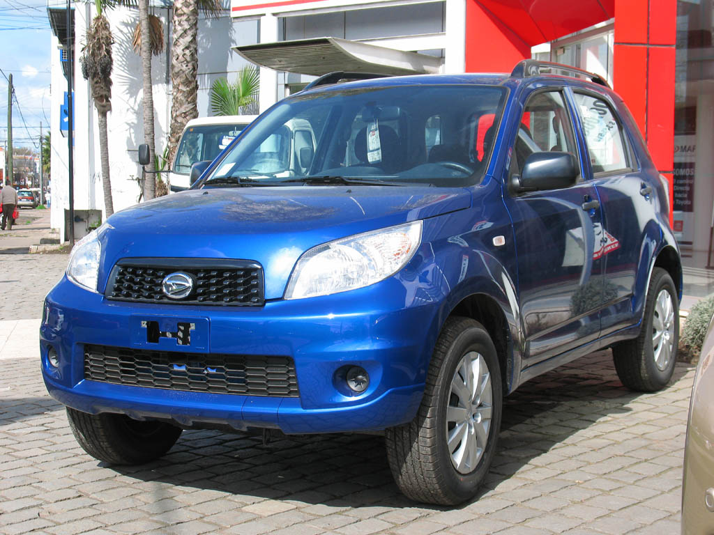 The Daihatsu Terios is a mini SUV, first released in 1997 by the  Japanesecar manufacturer Daihatsu. The engines are a modified Daihatsu  Charade1.3 litre or ...