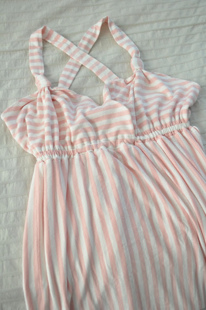 Striped Knit Nightgown