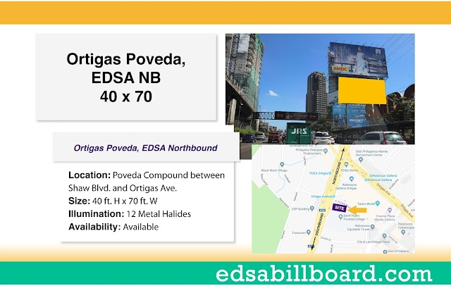 Available Billboard Site at EDSA Ortigas Northbound near ADB