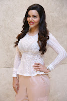 Kyra Dutt in Tight White Top Trousers at Paisa Vasool audio success meet ~  Exclusive Celebrities Galleries 017.JPG