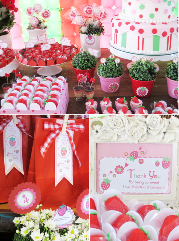 A Strawberry Shortcake Joint Birthday Party - Party Ideas ...