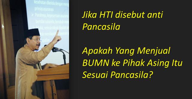 Dituding Anti Pancasila, Jubir HTI : Apakah Yang Menjual BUMN ke Pihak Asing Itu Sesuai Pancasila?