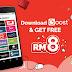 Muat Turun Aplikasi Boost & Dapatkan RM8 Secara Percuma
