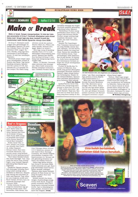 JOHN DAHL TOMASSON DANEMARK VS SPAIN EURO 2008 QUAILIFIER