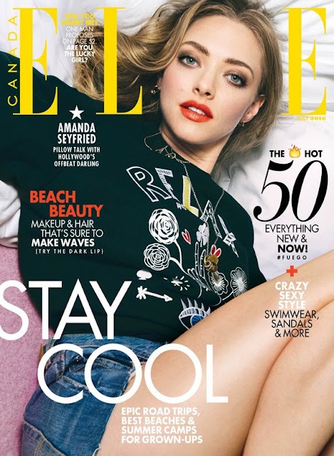 Actress, Singer, Model, @ Amanda Seyfried for Elle Canada July 2016