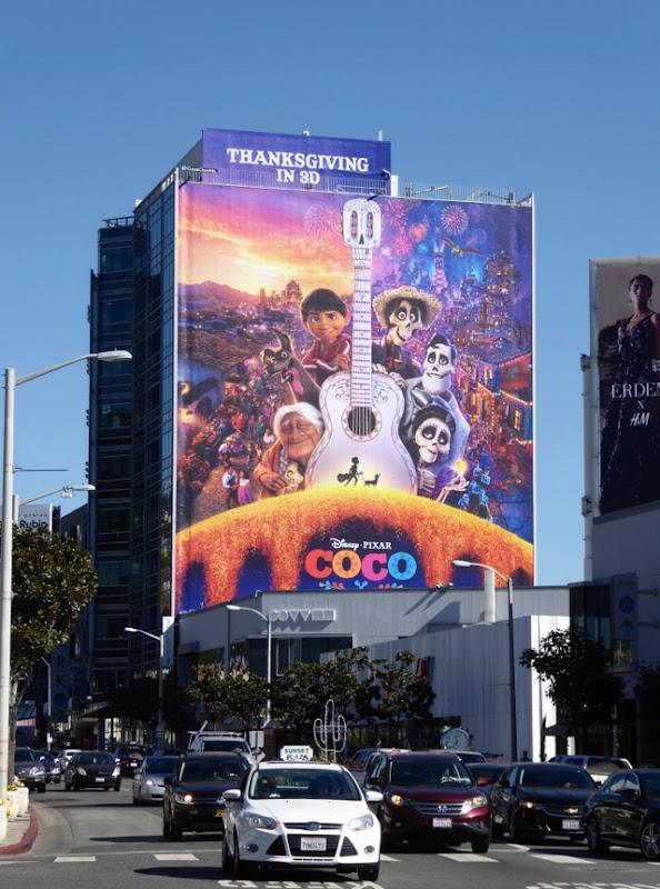 Coco movie billboard