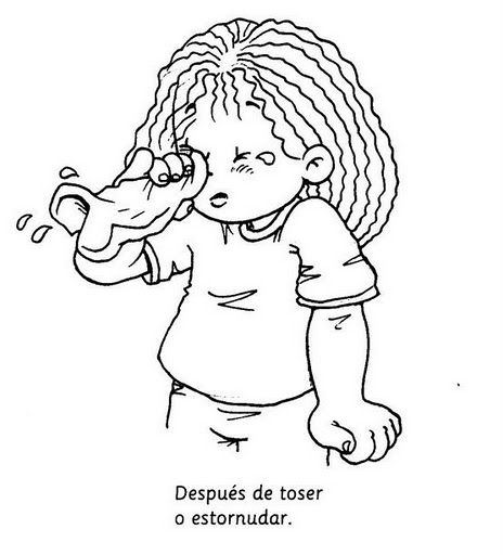 Dibujos De Niños Resfriados Para Colorear Imagui
