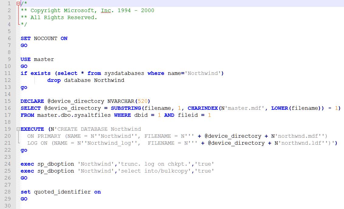 SQL Server 2012 Northwind Database Yükleme | /dev/null Web