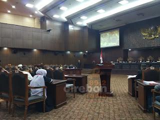 Sidang MK Pilwalkot Cirebon Hanya Dengar Laporan PSU