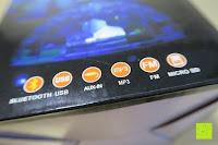 Funktionen: GHB Disco Light Lichteffekte Bühne DJ Beleuchtung Bluetooth Lautsprecher Mini-Kartensteckplatz rotierenden MP3 disco licht mit USB Anschluss