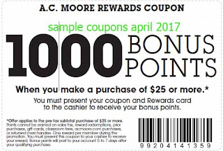 AC Moore coupons april 2017