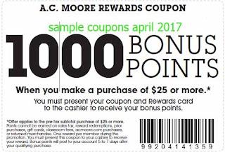 AC Moore coupons april 2017