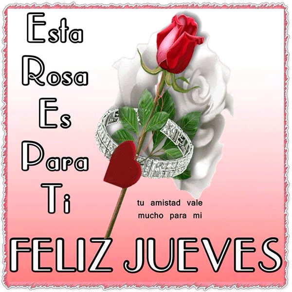 Feliz Jueves rosa