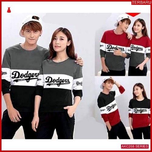 AKC268S103 Sweater Couple Dodgers Anak 268S103 Pasangan Kombinasi BMGShop