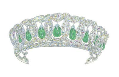 crown jewels greeting card