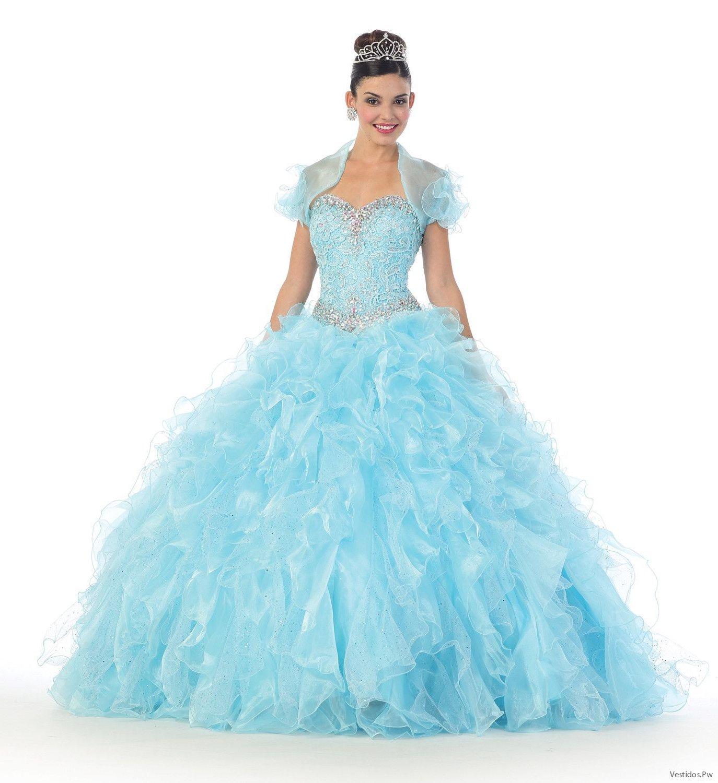 ac3b60d44a 21 Ideas de Vestidos de XV Años Color Celeste  CATÁLOGO 2019 ...