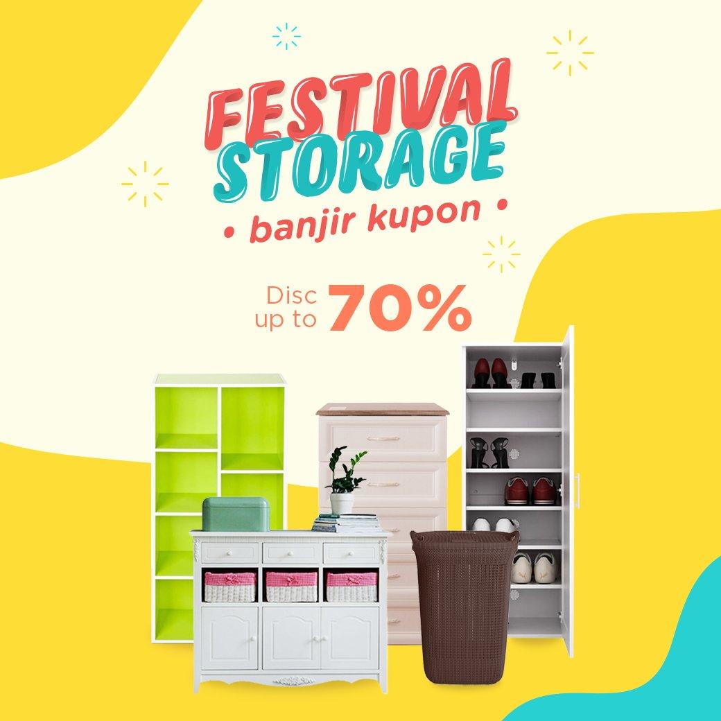JdID - Promo Diskon s.d 70% Banjir Kupon Festival Storage