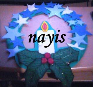 navidad vela estrellas corona