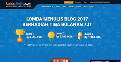 Dapat 7 Juta Hanya Menulis Blog Di Babastudio 2017