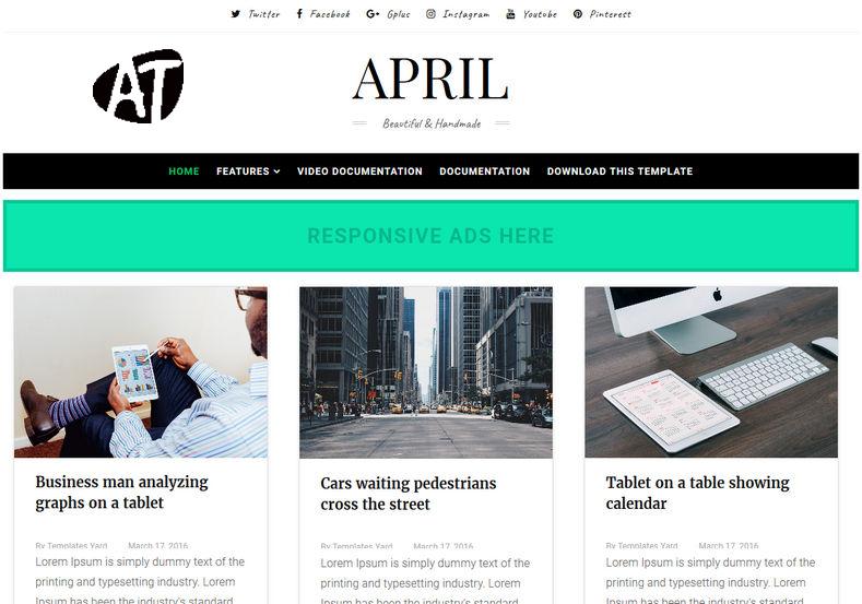 April Blogger Template - AnuTrickz
