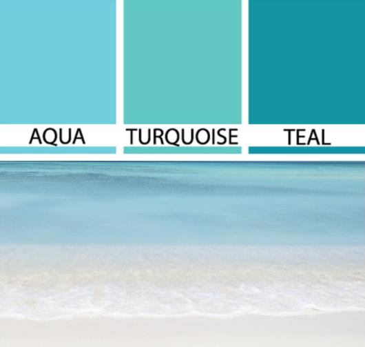 Turquoise Aqua Teal Colors