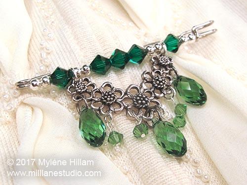 St Patrick's Day shawl pin