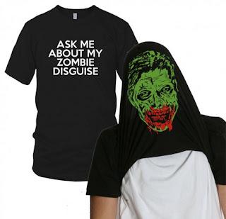 Diseño de camiseta ingeniosa con zomnbie