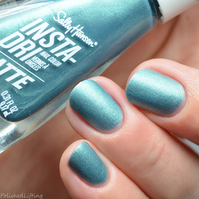 matte teal metallic nail polish