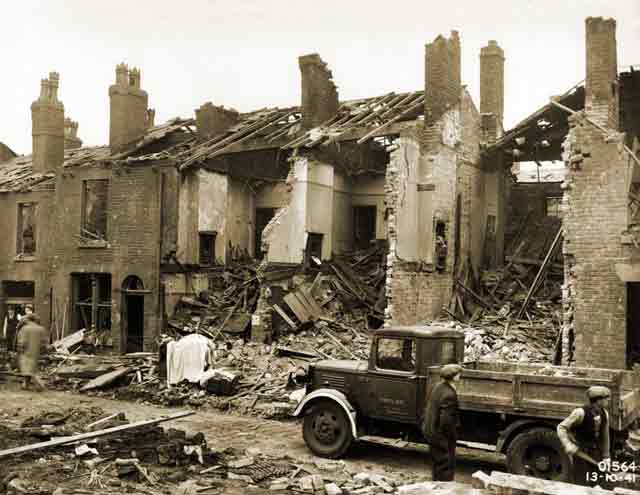 Bolton, England bomb damage, 13 October 1941 worldwartwo.filminspector.com