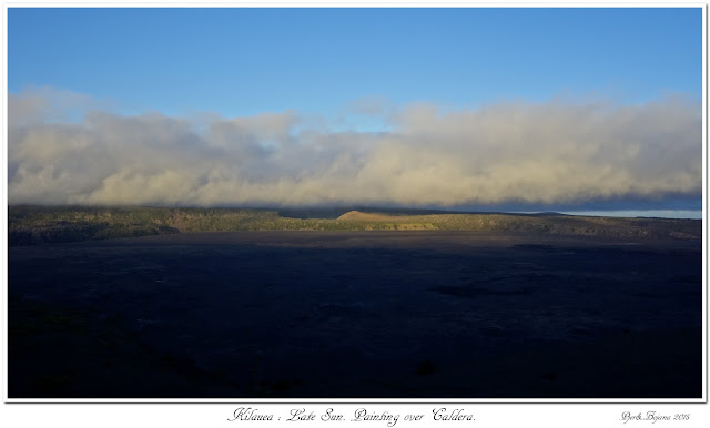 Kilauea: Late Sun. Painting over Caldera.