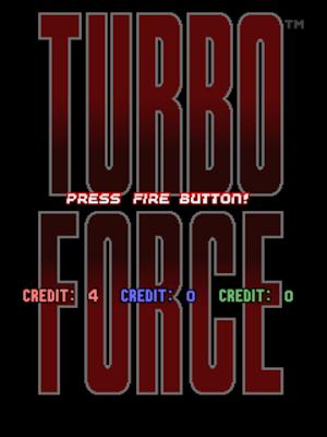 街機:超級空軍(Turbo Force)+Cheat作弊碼,縱向飛機射擊遊戲!
