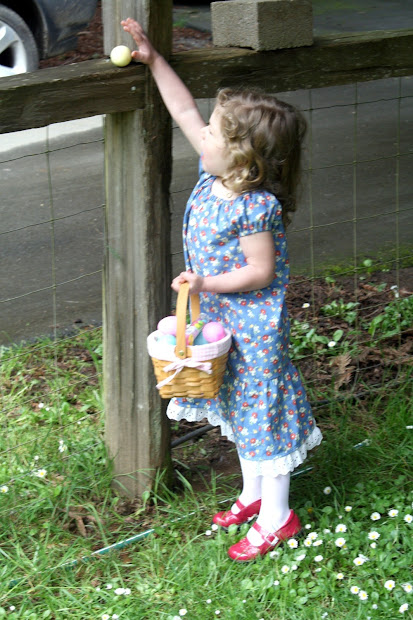 Mountain Home Quilts Easter Dress And Colored Eggs