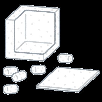 発泡スチロールの梱包材のイラスト