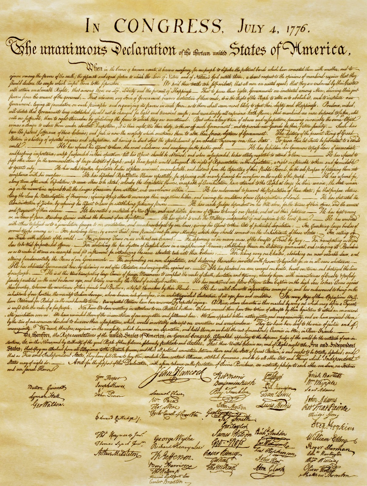 8th Grade Us History Blog Declaration Of Independence