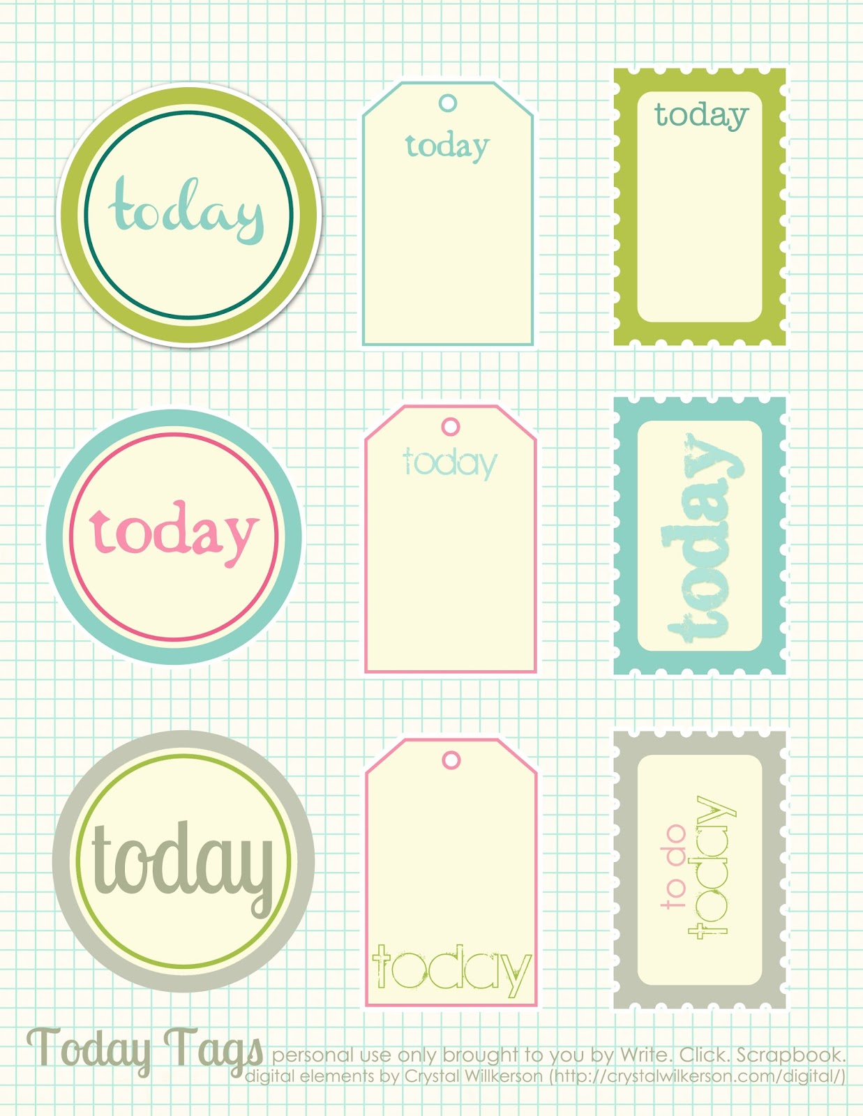 Fancy Photo Booth Scrapbooking Printables