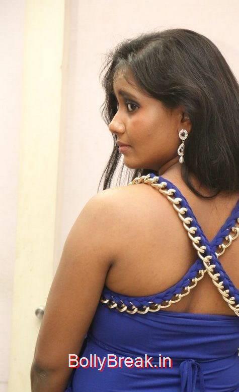 Anusha Photo Gallery, Anusha Hot Pics in Blue Dress