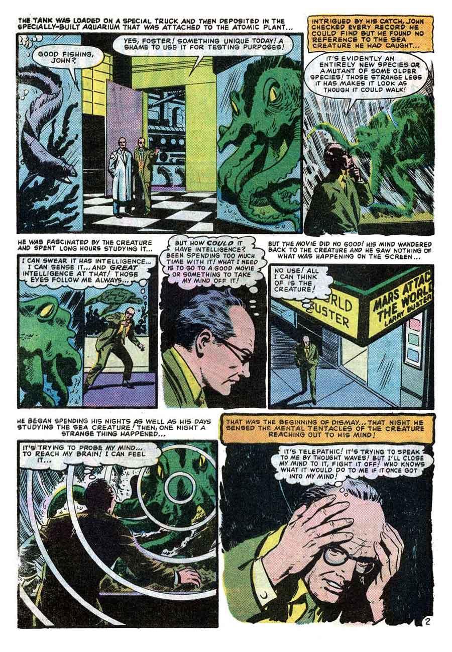 World of Suspense v1 #7 atlas comic book page art by Al Williamson